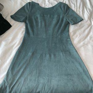 Bianca Blue Suede A-line Dress